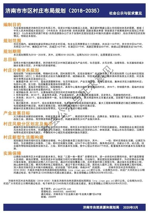 济南市区村庄布局规划公示并征求意见,涉及1134个村。