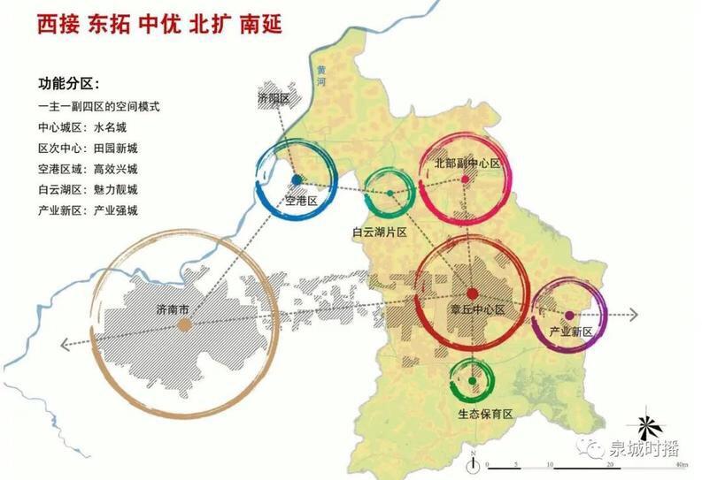 总规划444平方公里!章丘城市总体规划流出!规划图曝光