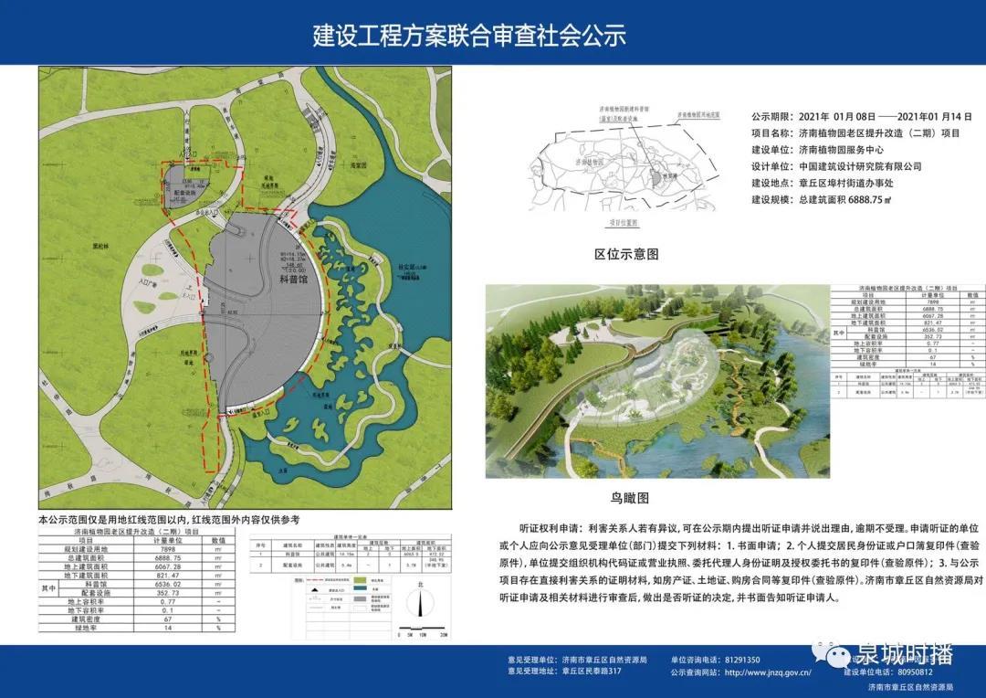 总面积6888m²!章丘植物园要新建一座科普馆!